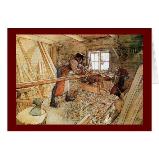 En la tienda del carpintero felicitación