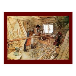 En la tienda del carpintero postales