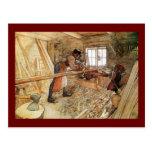 En la tienda del carpintero tarjetas postales