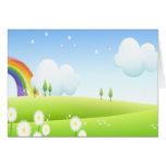 En la tierra de arco iris felicitación
