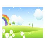 En la tierra de arco iris tarjetas postales