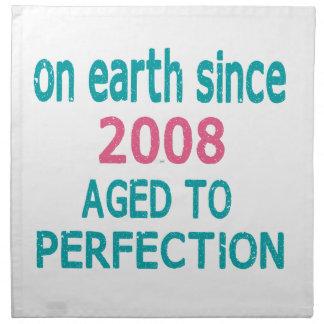 En la tierra envejecida desde 2008 a la perfección servilleta imprimida