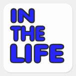 En la vida. Forma de vida gay Calcomanías Cuadradas Personalizadas