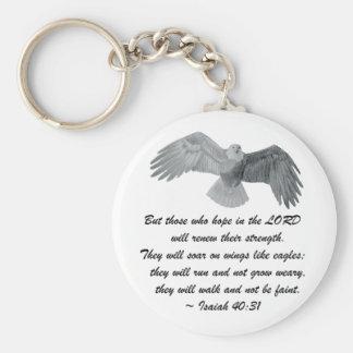 En las alas como Eagles - es el 40:31 Llavero