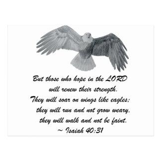 En las alas como Eagles - es el 40:31 Tarjeta Postal