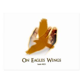 En las alas de Eagles Tarjetas Postales
