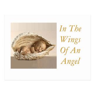 En las alas de un ángel tarjeta postal