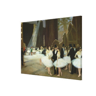 En las alas en el teatro de la ópera, 1889 impresión en lona estirada