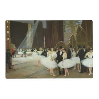 En las alas en el teatro de la ópera, 1889 salvamanteles