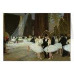 En las alas en el teatro de la ópera, 1889 tarjeta de felicitación