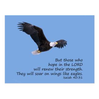 En las alas tenga gusto de la postal de Eagles