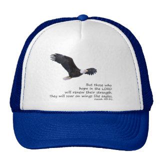 En las alas tenga gusto del gorra de Eagles