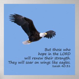 En las alas tenga gusto del poster de Eagles