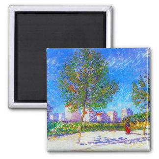 En las cercanías de París de Vincent van Gogh Imán Cuadrado