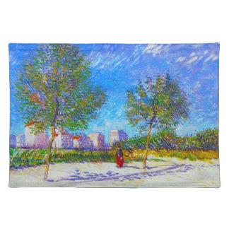 En las cercanías de París de Vincent van Gogh Manteles Individuales