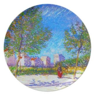 En las cercanías de París de Vincent van Gogh Platos