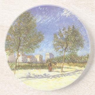 En las cercanías de París de Vincent van Gogh Posavasos Personalizados