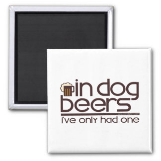 En las cervezas del perro (w/Mug) Iman De Frigorífico