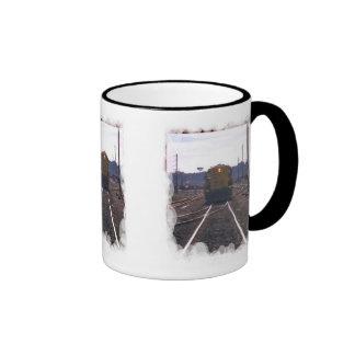 En las líneas correctas taza de café