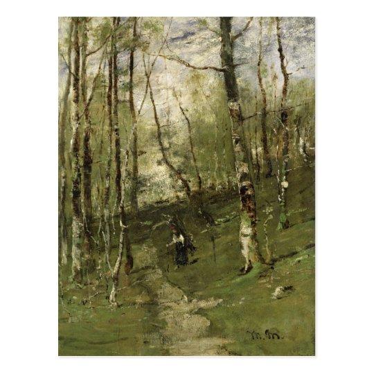 En las maderas de Barbizon en 1875 Postal