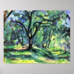 En las maderas de Paul Cezanne Poster