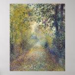 En las maderas de Pierre-Auguste Renoir Póster