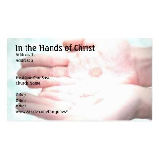 En las manos de Cristo Plantilla De Tarjeta De Negocio