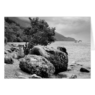 En las orillas de Loch Ness con el monstruo Tarjeta De Felicitación