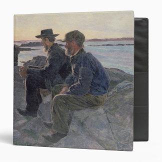 """En las rocas en Fiskebackskil, 1905-6 Carpeta 1 1/2"""""""