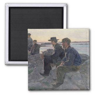 En las rocas en Fiskebackskil, 1905-6 Imán Cuadrado