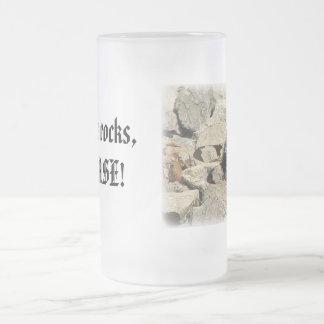 En las rocas… taza de cristal