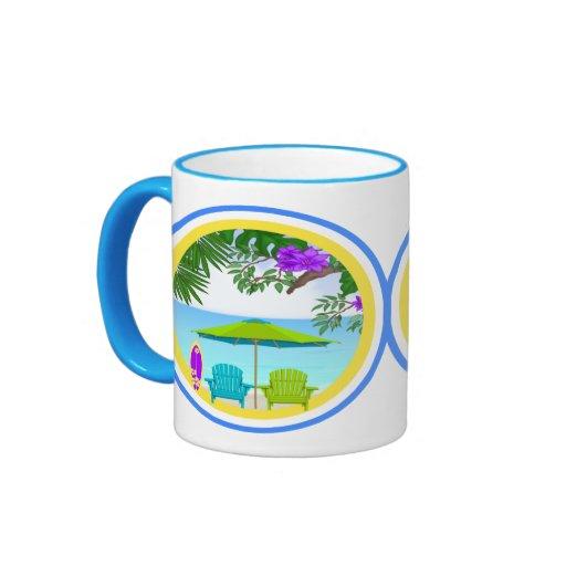 En las tazas de café de la playa