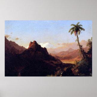 En las zonas tropicales por la iglesia de Federico Posters