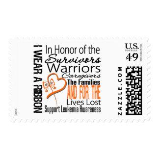 En leucemia del collage del honor estampillas