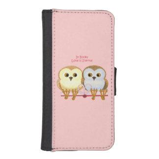 En libros el amor es eterno fundas tipo billetera para iPhone 5