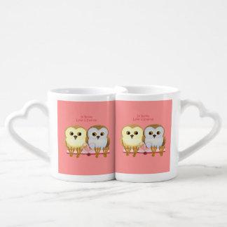 En libros el amor es eterno set de tazas de café
