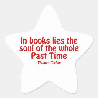 En libros miente el alma del conjunto más allá del pegatina en forma de estrella