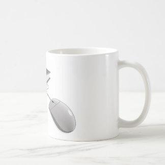 En línea aprendiendo taza básica blanca