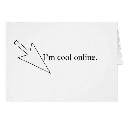 en línea fresco tarjeta de felicitación