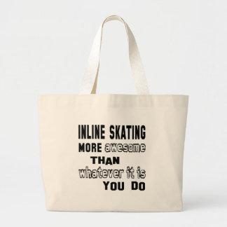 En línea patinando más impresionante que lo que es bolsa tela grande
