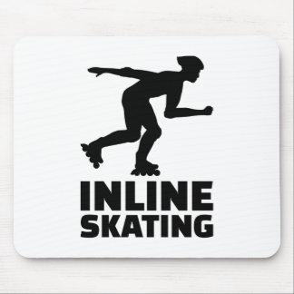 En línea patinando mouse pads