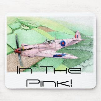 En los 2 rosados tapetes de raton