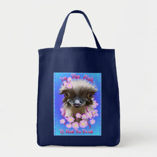 En los bolsos rosados bolsa tela para la compra