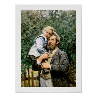 """""""En los brazos del papá"""" por Severin Nilsson Póster"""