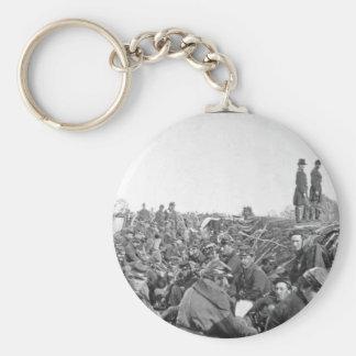 En los fosos antes de la imagen de Petersburg_War Llavero Redondo Tipo Pin