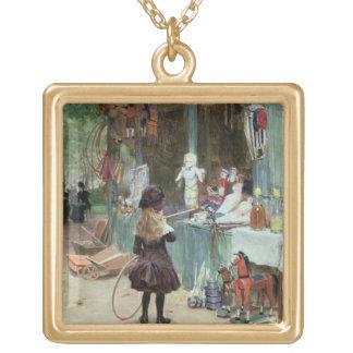 En los jardines de Champs-Elysees, c.1897 (aguazo  Colgante Cuadrado