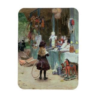 En los jardines de Champs-Elysees, c.1897 (aguazo  Imanes