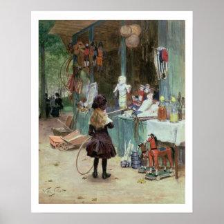 En los jardines de Champs-Elysees, c.1897 (aguazo  Póster