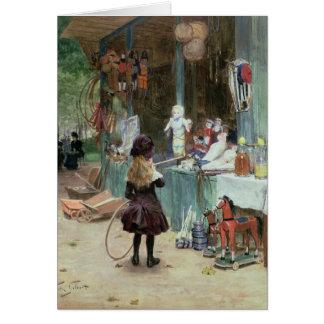 En los jardines de Champs-Elysees, c.1897 (aguazo  Tarjeta De Felicitación