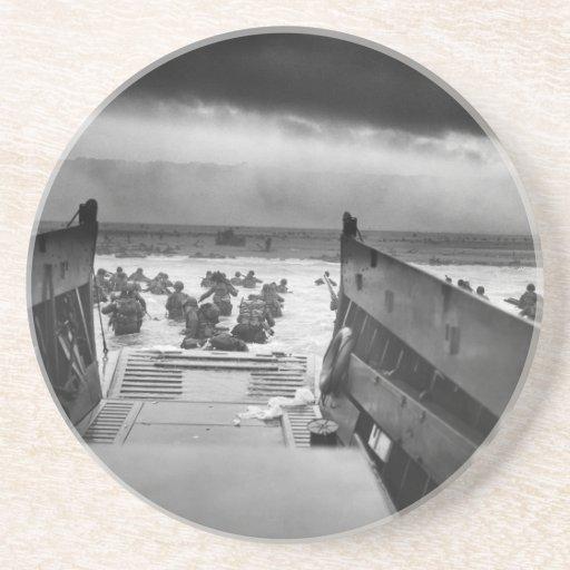 En los mandíbulas de la Segunda Guerra Mundial Posavasos De Arenisca